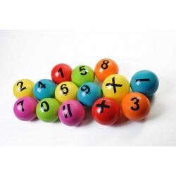Balles numérotés - Lot de 14
