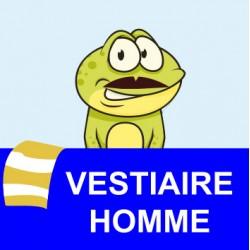 """Panneau - """"Vestiaire Homme"""""""