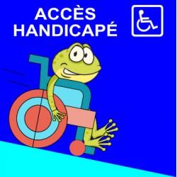 """Panneau - """"Accès Handicapé"""""""