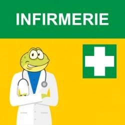"Panneau - "" Infirmerie """