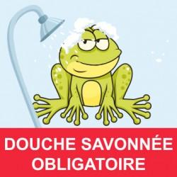 """Panneau - """"Douche Obligatoire """""""
