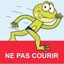 """Panneau - """"Ne pas courir """""""