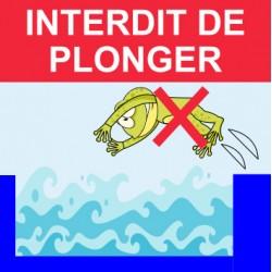 """Panneau - """"Interdit de plonger """""""