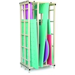 Etagère range tapis PVC - 3 compartiments