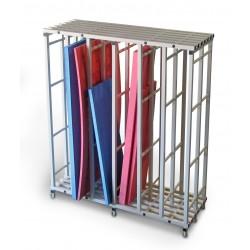 Etagère range tapis PVC - 6 compartiments