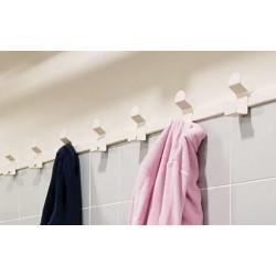 Porte-manteaux inox laquée - sur lisse