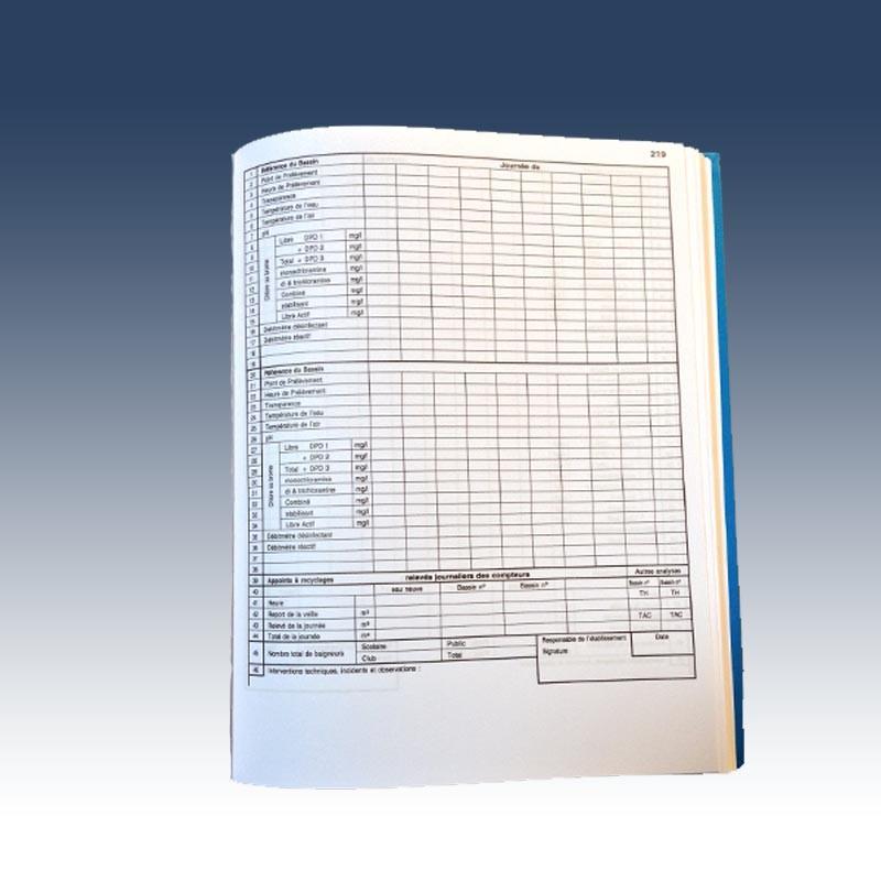 carnet sanitaire agenda piscine carnet entretien