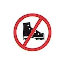 """Panneau - """"Chaussures Interdites"""""""