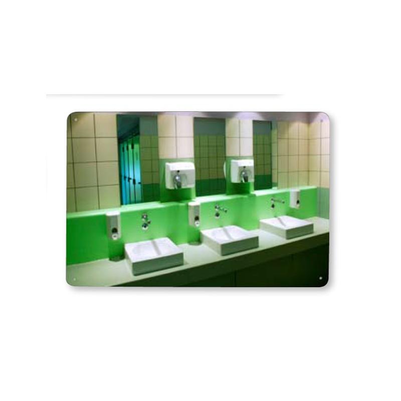 Miroir incassable miroir piscine miroir sanitaire for Miroir incassable
