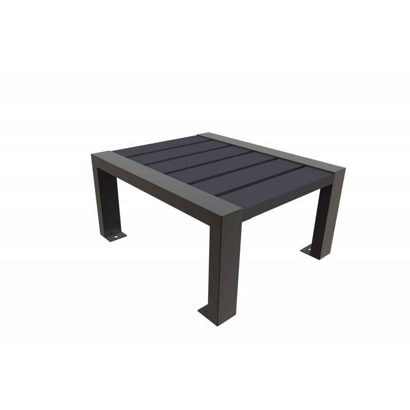 Table basse plastique recycl table basse ext rieur for Table exterieur plastique noir