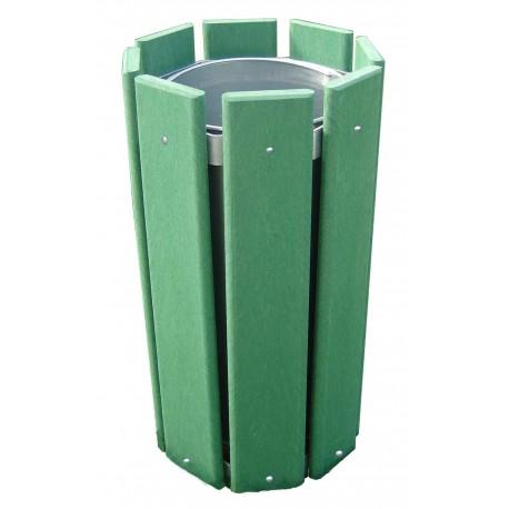 Poubelle exterieur corbeille plastique recycl poubelle for Poubelle plastique exterieur
