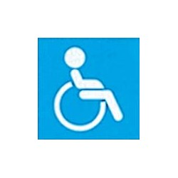 """Panneau - """"Accès handicapés """""""